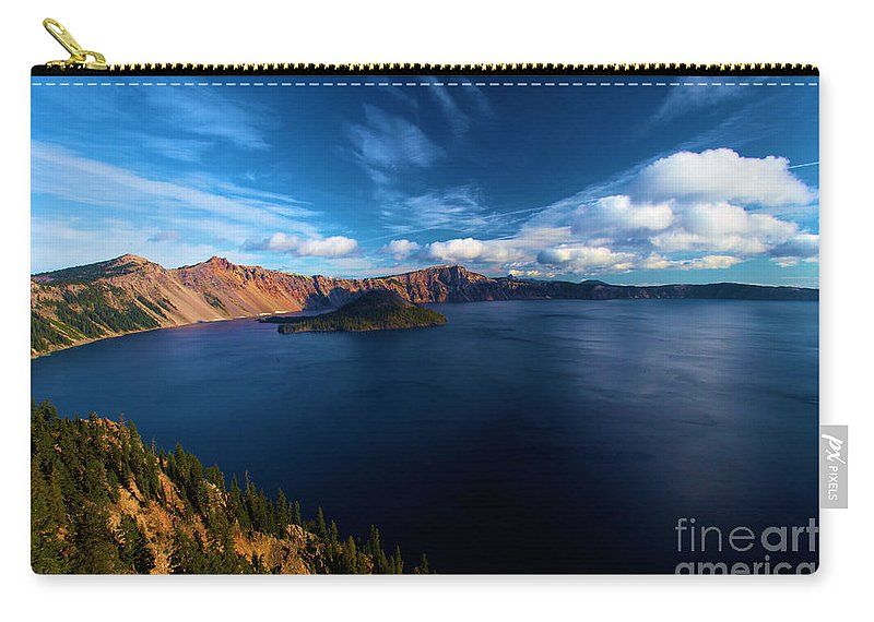 Crater Lake National Park Carry-all Pouch featuring the photograph Sinott Crater Lake View by Adam Jewell