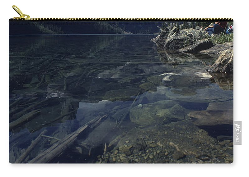 Ecology Carry-all Pouch featuring the photograph Sitting Along The Sheep River by Roderick Bley