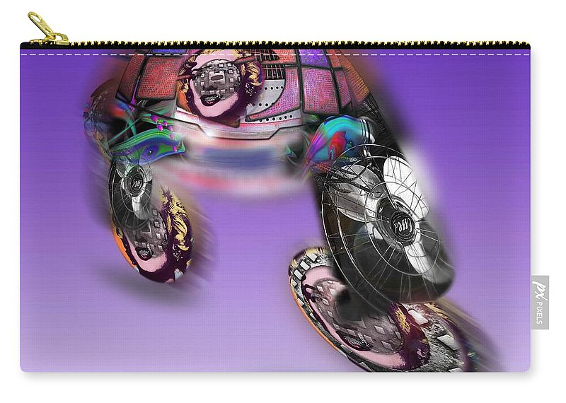 Skates Carry-all Pouch featuring the painting Skate Away by Charles Stuart