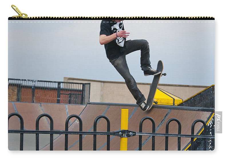 Skate Board Carry-all Pouch featuring the photograph Skateboarding Ix by Sheila Laurens