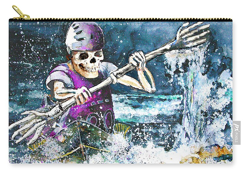 Fun Carry-all Pouch featuring the painting Skelet Oar by Miki De Goodaboom