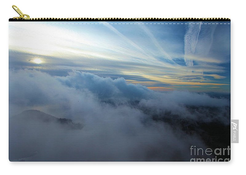 Crater Lake National Park Carry-all Pouch featuring the photograph Sky Painting by Adam Jewell