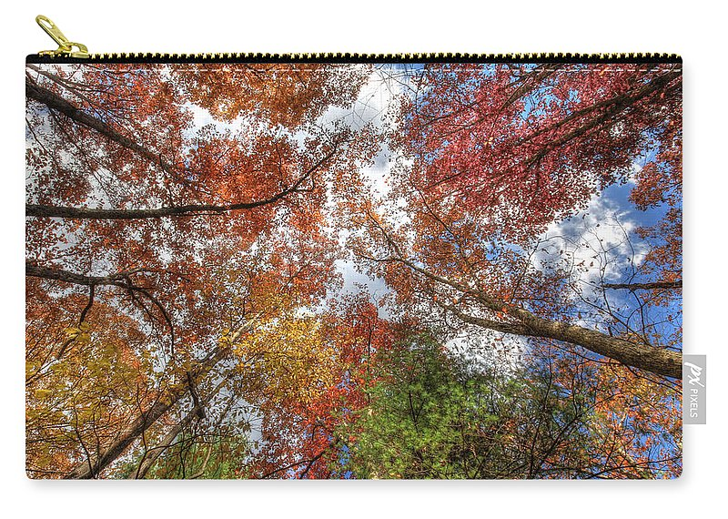 Autumn Carry-all Pouch featuring the photograph Skyward by Lori Deiter