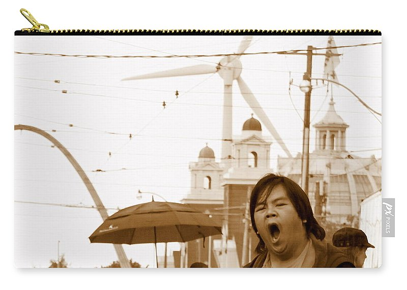 Sleep Carry-all Pouch featuring the photograph Sleepy At The Fair by Valentino Visentini