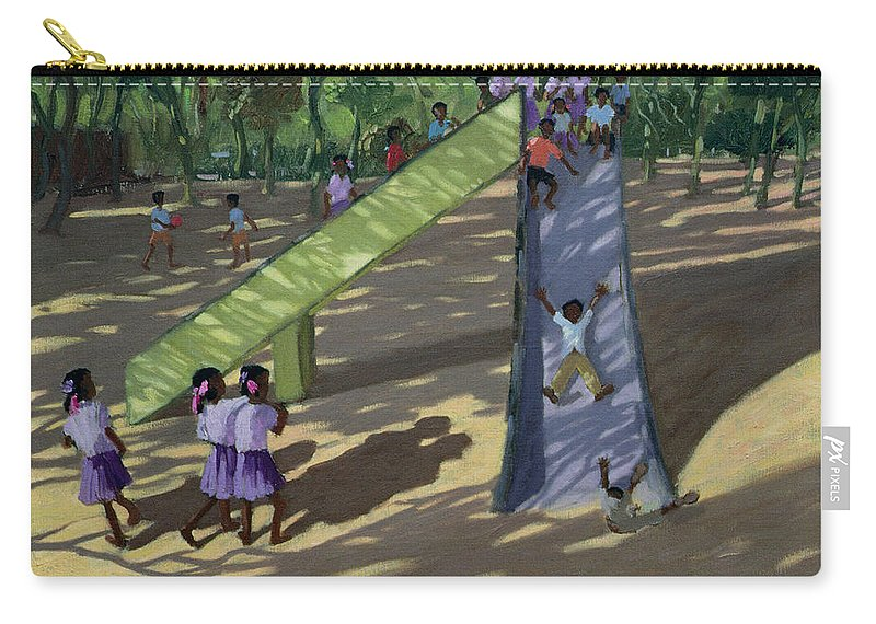 Playground Carry-all Pouch featuring the painting Slide Mysore by Andrew Macara