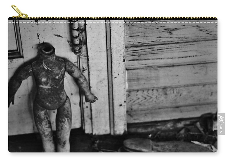Street Photographer Framed Prints Carry-all Pouch featuring the photograph Slipped by The Artist Project