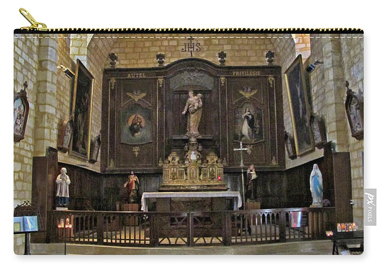 France Carry-all Pouch featuring the photograph Small French Chapel by Dave Mills