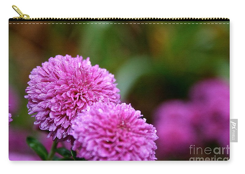 Flower Carry-all Pouch featuring the photograph Small Wonder Mum by Susan Herber