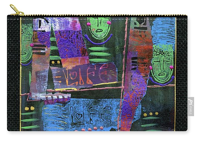 Women Carry-all Pouch featuring the mixed media Smile Banner by Angela L Walker