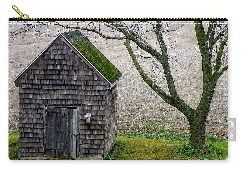 Farm Carry-all Pouch featuring the photograph Smoke House by Lainie Wrightson