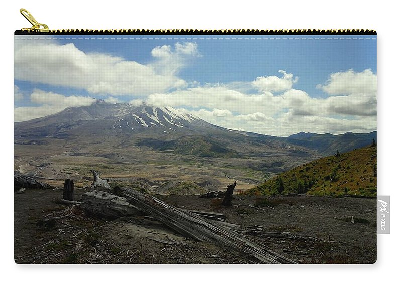 Photos Of Mt St Helens Photographs Carry-all Pouch featuring the photograph Smoking Mountain by Christy Leigh