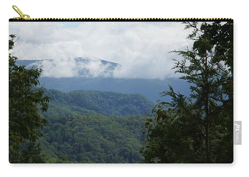 Mountains Carry-all Pouch featuring the photograph Smoky Mountain View by Megan Cohen