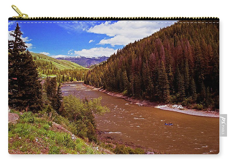 Wyoming Carry-all Pouch featuring the photograph Snake River And Rafters by Rich Walter