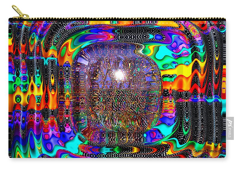 Shiny Carry-all Pouch featuring the digital art Snakes Alive by Robert Orinski