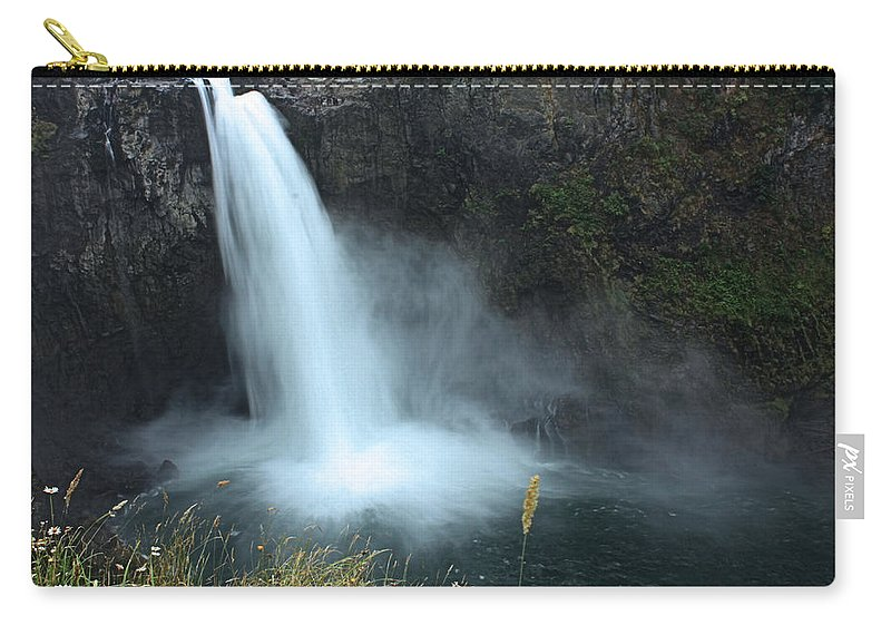 Snoqualmie Falls Carry-all Pouch featuring the photograph Snoqualmie Falls by Kristin Elmquist