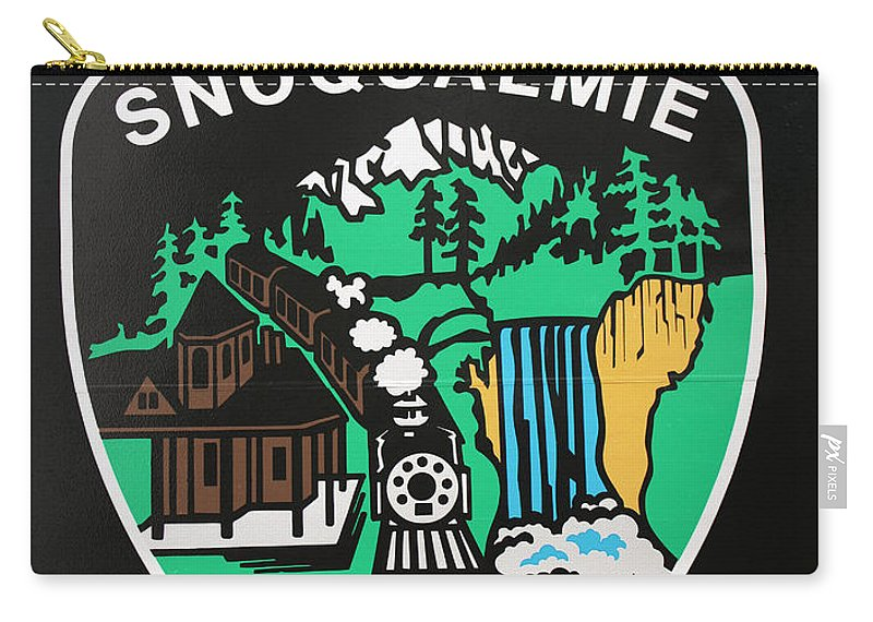 Badge Carry-all Pouch featuring the photograph Snoqualmie Police by Kristin Elmquist