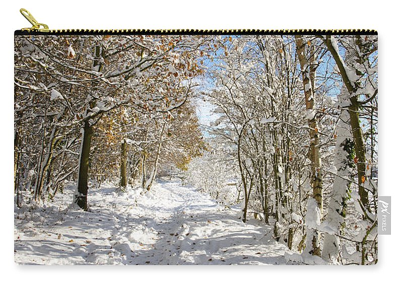 Snow Carry-all Pouch featuring the photograph Snowpath by David Birchall