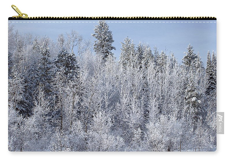 Winter Carry-all Pouch featuring the photograph Snows Hit Again In Early Spring by DeeLon Merritt