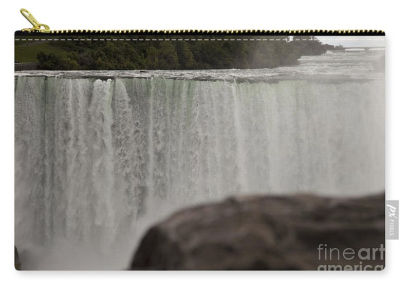 Niagara Carry-all Pouch featuring the photograph So Close and So Far by Amanda Barcon