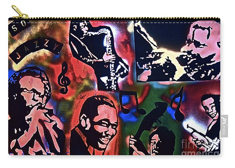 Jazz Carry-all Pouch featuring the painting So So Jazzy by Tony B Conscious