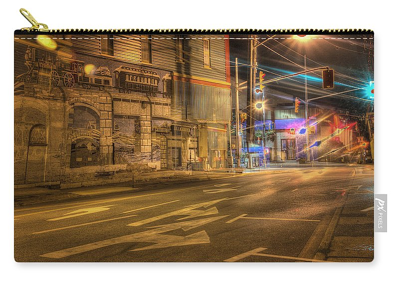 Hdr Carry-all Pouch featuring the photograph Sobriety Test -- Fail by John Herzog