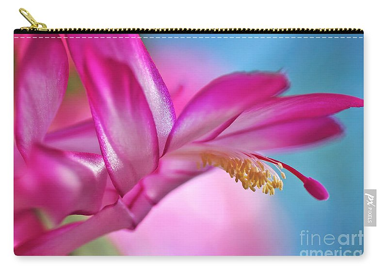 Photography Carry-all Pouch featuring the photograph Soft And Delicate Cactus Bloom by Kaye Menner