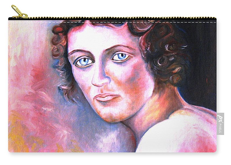 Portrait Carry-all Pouch featuring the painting Soft Shoulder by Carole Spandau