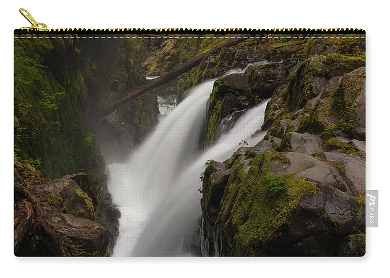 Olympic National Park Carry-all Pouch featuring the photograph Sol Duc Flow by Mike Reid