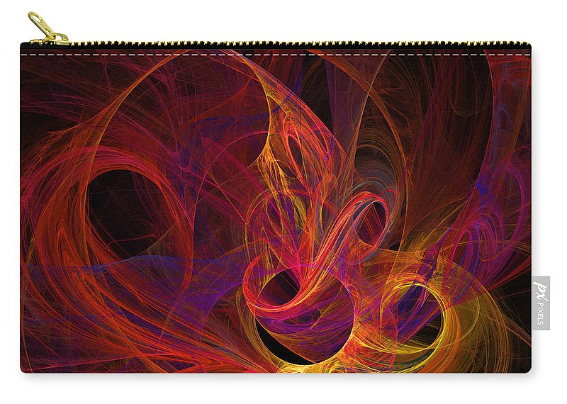 Solar Carry-all Pouch featuring the digital art Solar Flares by Ricky Barnard
