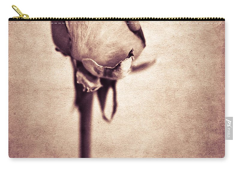 Yhun Suarez Carry-all Pouch featuring the photograph Solitaire Rose 1.0 by Yhun Suarez