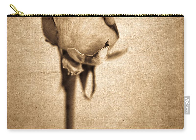Yhun Suarez Carry-all Pouch featuring the photograph Solitaire Rose 2.0 by Yhun Suarez