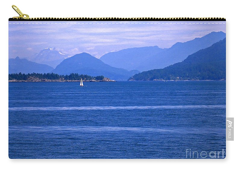 Sailboat Carry-all Pouch featuring the photograph Solitary Sailing by Ann Horn
