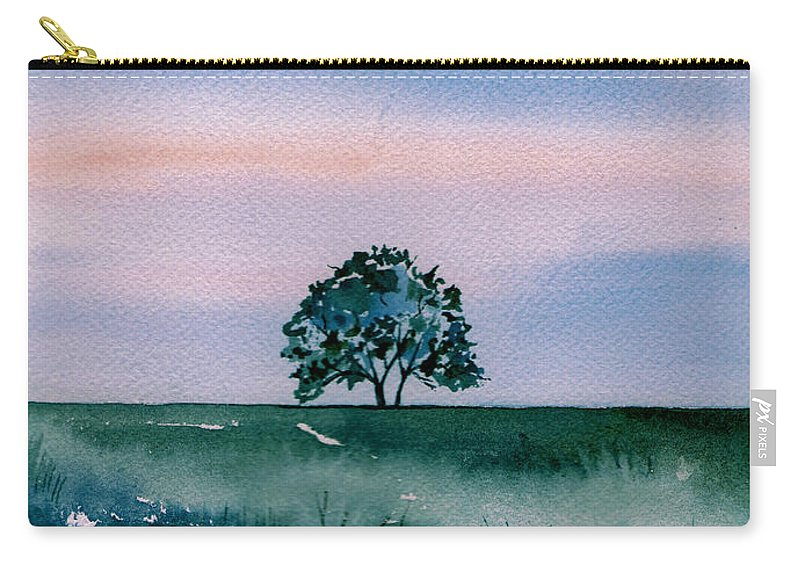 Watercolor Carry-all Pouch featuring the painting Solo by Brenda Owen
