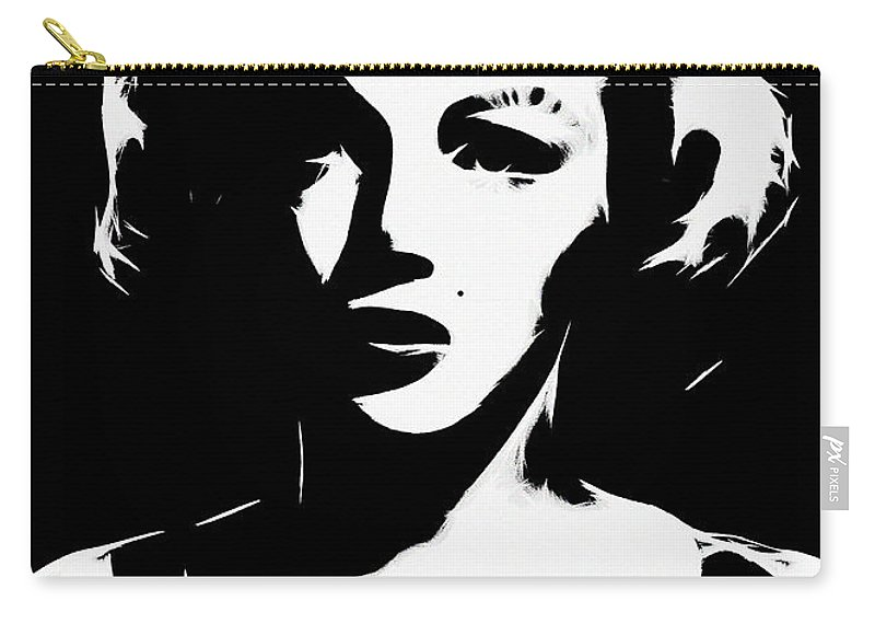 Marilyn Monroe Norma Jeane Baker Star Artist Pop Art Color Colorful Expressionism Carry-all Pouch featuring the digital art Some Like It White by Steve K