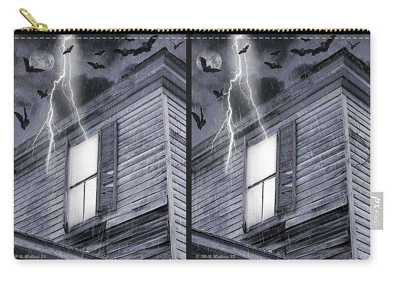 3d Carry-all Pouch featuring the photograph Something Wicked - Cross Your Eyes And Focus On The Middle Image by Brian Wallace