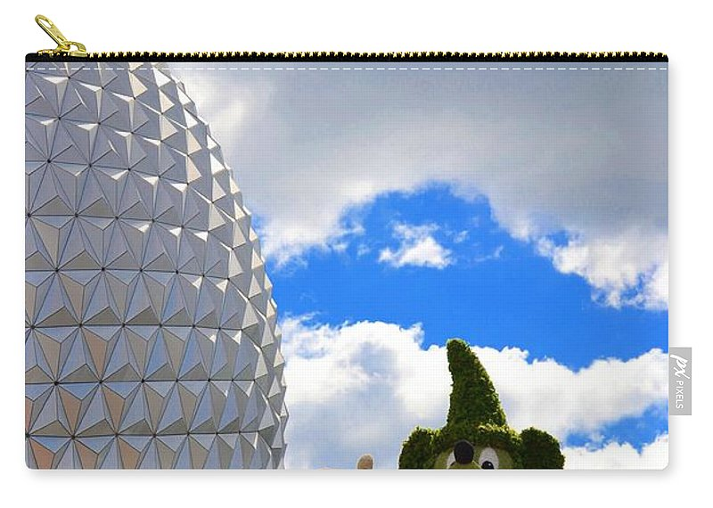 Photo Carry-all Pouch featuring the photograph Sorcerer Mickey by Bonnie Myszka