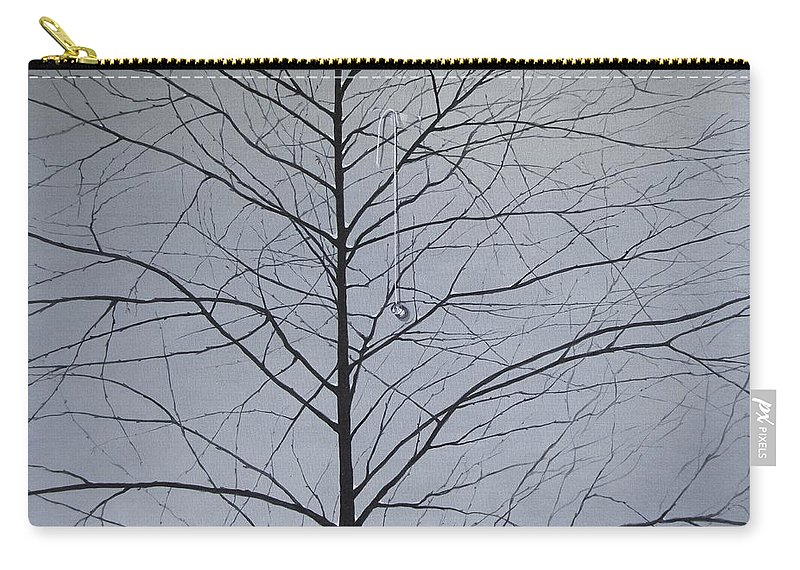Winter Trees Carry-all Pouch featuring the painting Sorrow by Roger Calle