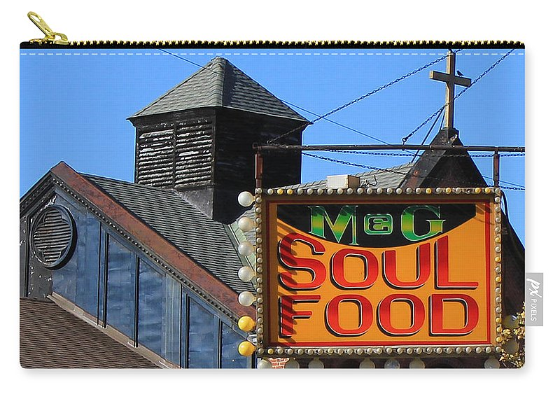 New York Carry-all Pouch featuring the photograph Soul Food by Andrew Fare