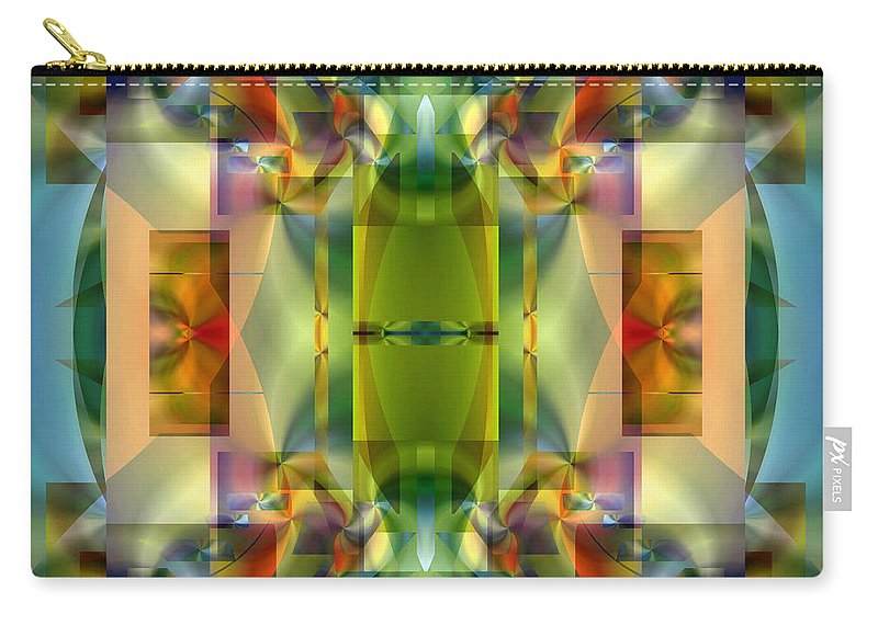 Abstract Carry-all Pouch featuring the digital art Soul Sanctuary 5 by Lynda Lehmann