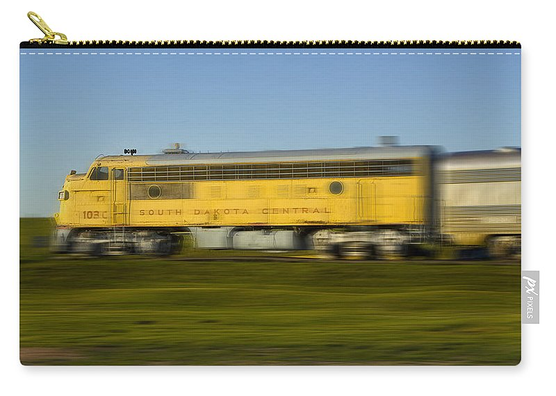 Art Carry-all Pouch featuring the photograph South Dakota Central Train by Randall Nyhof