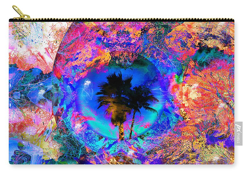 Palm Carry-all Pouch featuring the digital art South Of The Border by Robert Orinski