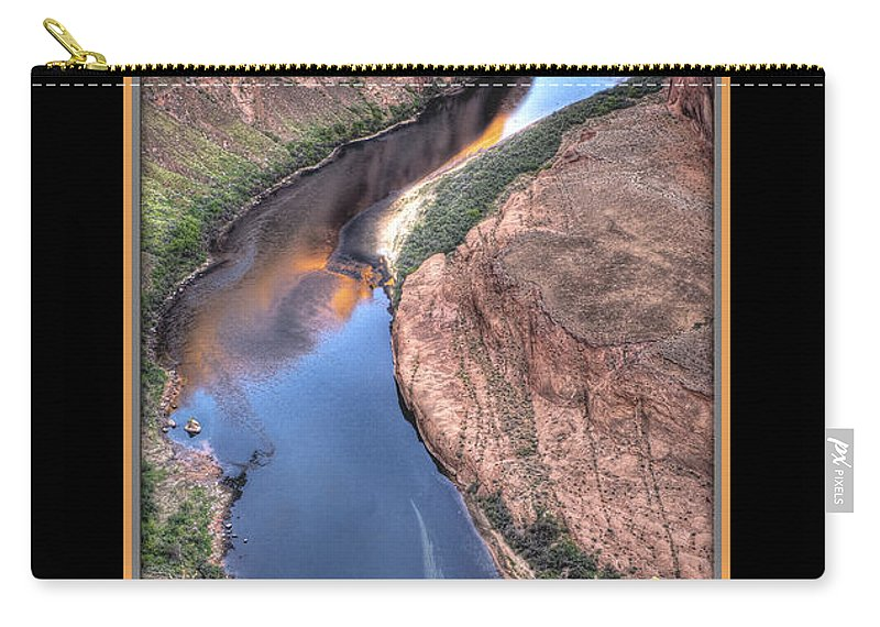 Horseshoe Bend Carry-all Pouch featuring the photograph South Side Of Horseshoe Bend by Larry White