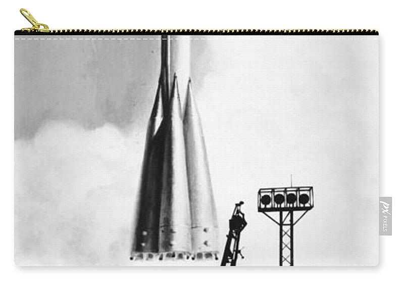 1975 Carry-all Pouch featuring the photograph Soviet Soyuz Rocket, 1975 by Granger