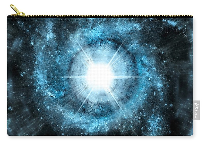 Abstract Carry-all Pouch featuring the digital art Space006 by Svetlana Sewell