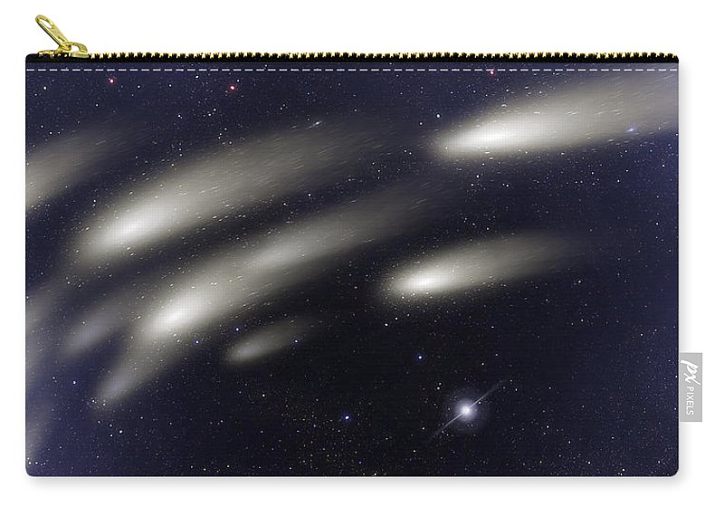 Abstract Carry-all Pouch featuring the digital art Space011 by Svetlana Sewell