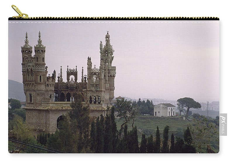 Castle Carry-all Pouch featuring the photograph Spanish Castle by Shaun Higson