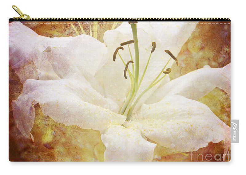 Clare Bambers Carry-all Pouch featuring the photograph Sparkling Lily by Clare Bambers