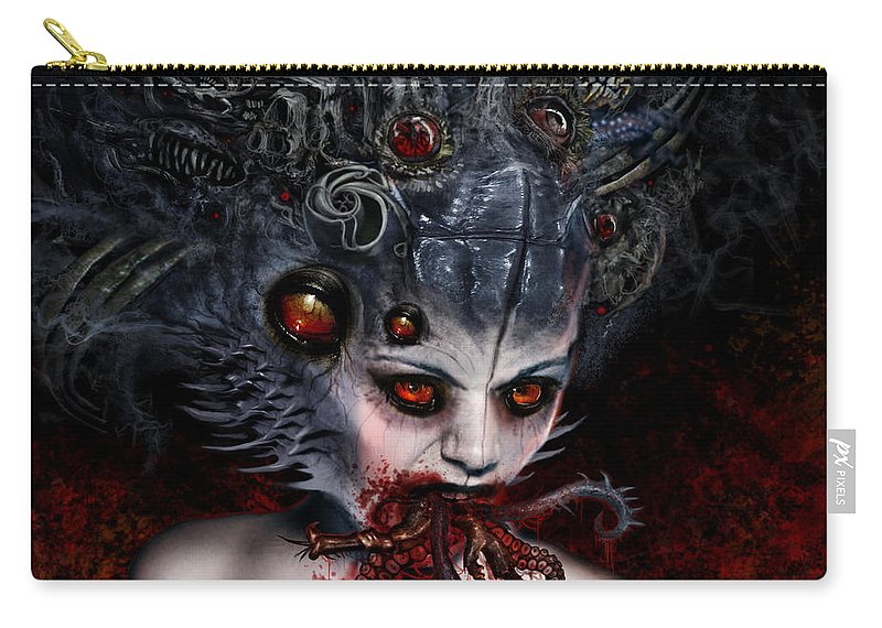 Beyond Cure Carry-all Pouch featuring the mixed media Speaking Lies About The Truth by Tony Koehl
