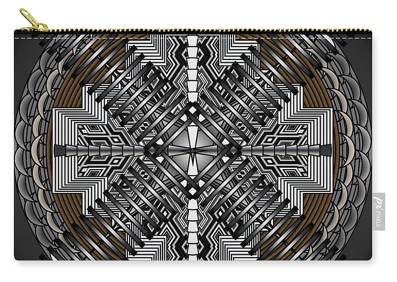 Mandalas Carry-all Pouch featuring the digital art Spectral Formations by Mario Carini