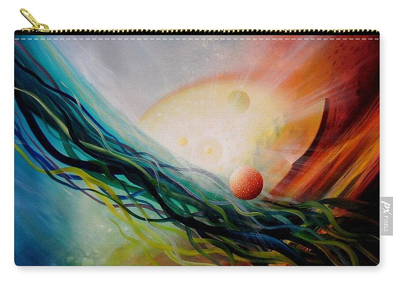 Sphere Carry-all Pouch featuring the painting Sphere Gl2 by Drazen Pavlovic